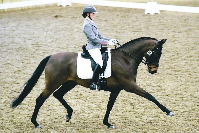 Beth Barnett on a horse