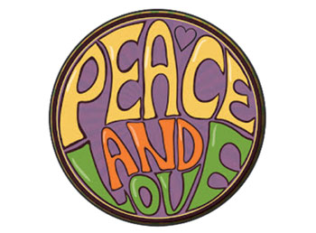 Peace and love Sign