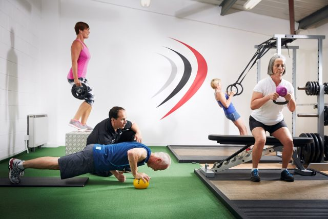 Small group training with a personal trainer