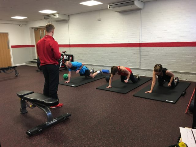 Personal trainer in Hereford putting a small group through it's paces