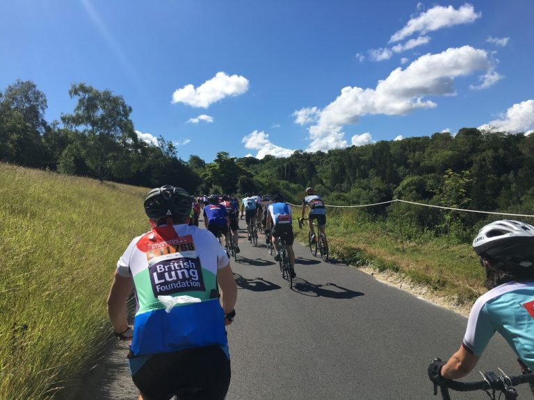 Team Training in the open on bikes